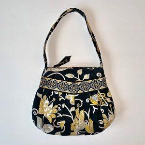 Vera Bradley black yellow small purse handbag